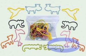 Állat vagy betű formájú szilikon szalagok
