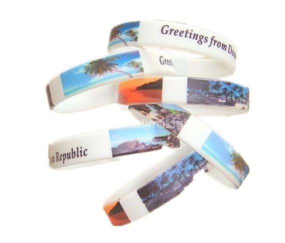 Fényképekkel nyomtatott szilikon karkötők